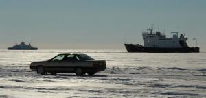 Auto-Verkehr auf der Ostsee